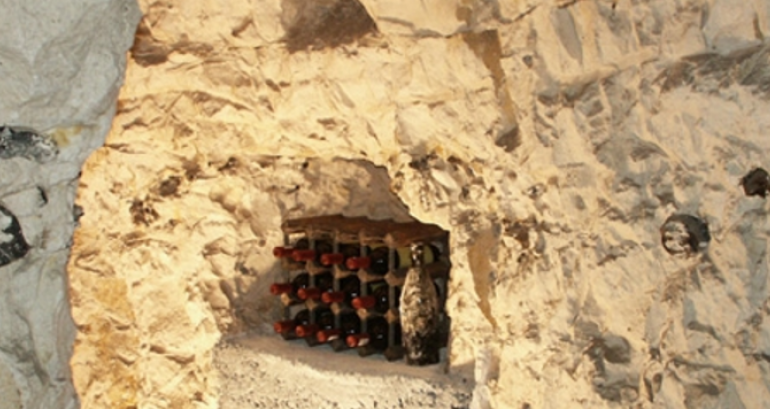 Bottles in Chalk Cellar